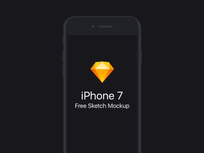 free flat iphone 7 sketch mockup freebie supply