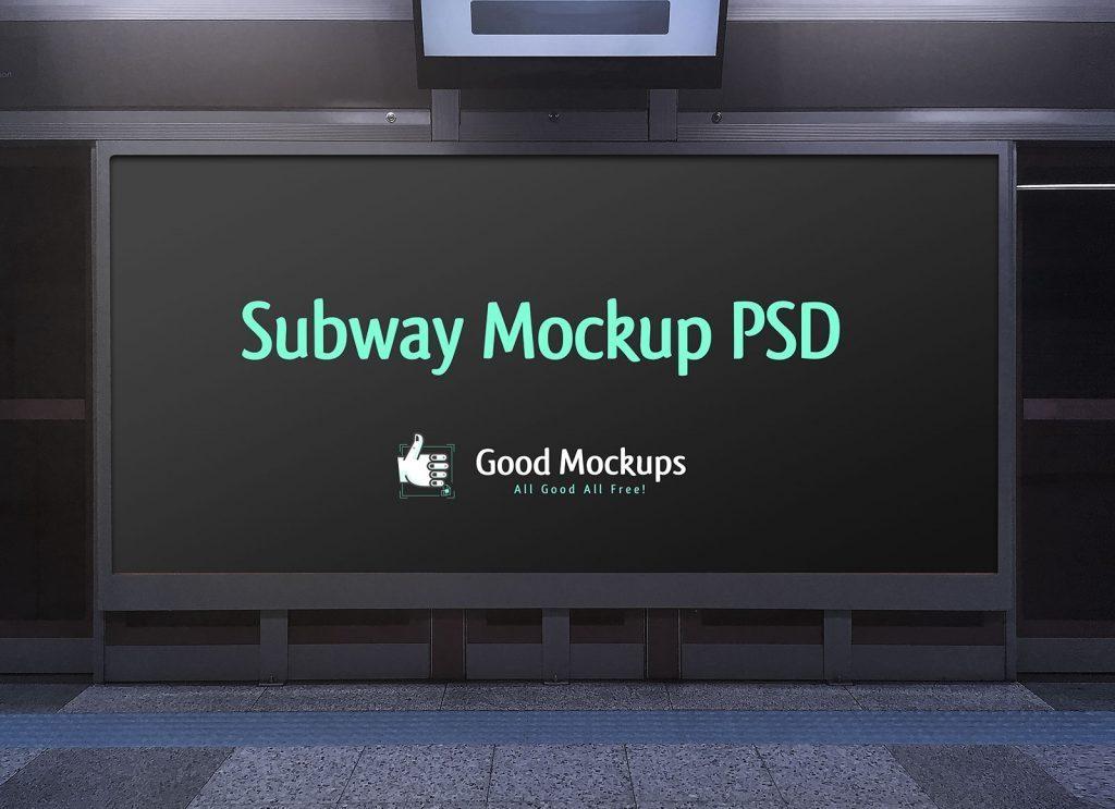 free outdoor advertising subway hoarding mockup psd file good mockups