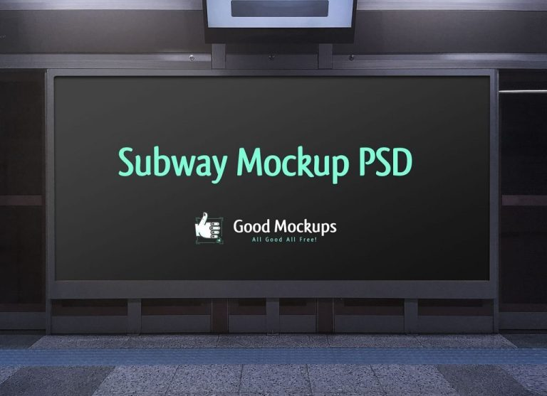 free outdoor advertising subway hoarding mockup psd file good mockups