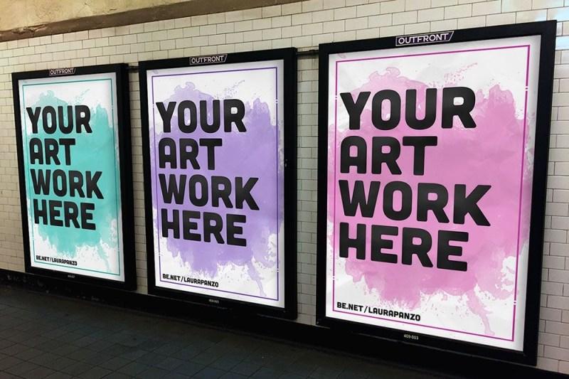 free subway advertisement mockup in psd subway advertisement