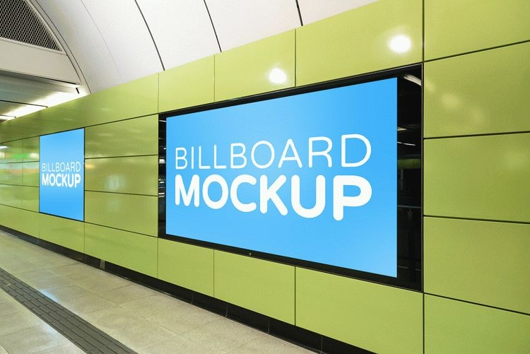 free subway billboard mockup download
