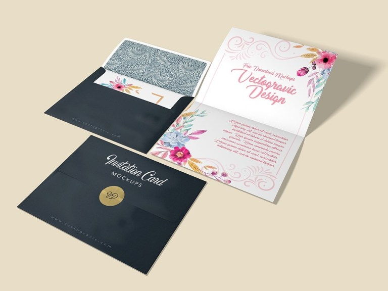 free wedding invitation envelope mockup psd creative sofa