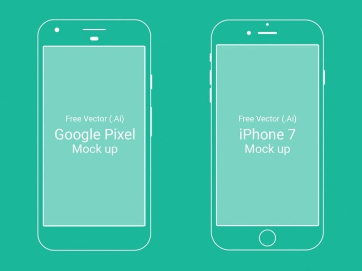 google pixel and iphone 7 mockups fluxes freebies