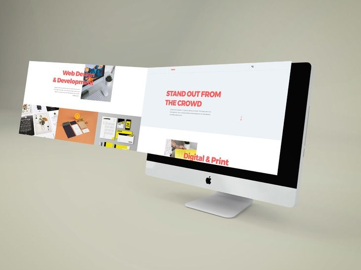 imac perspective extended screen mockup preview free mockups