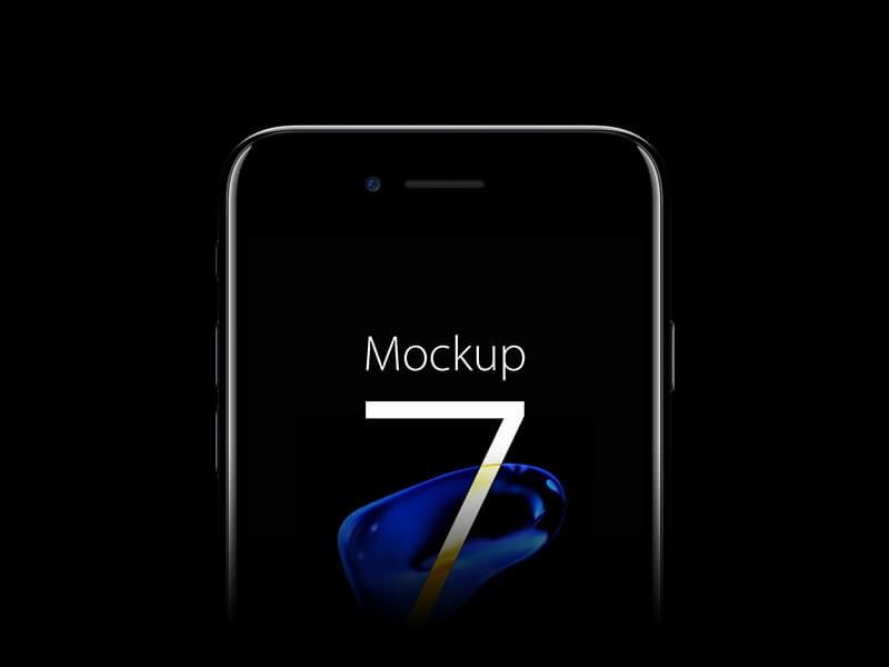 iphone 7 jet black mockup psd