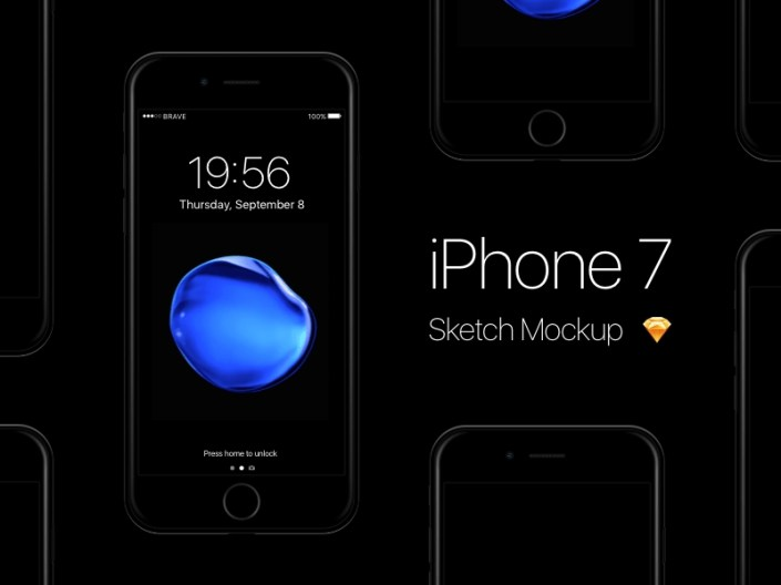 iphone 7 mockup sketch freebie download free resource for sketch