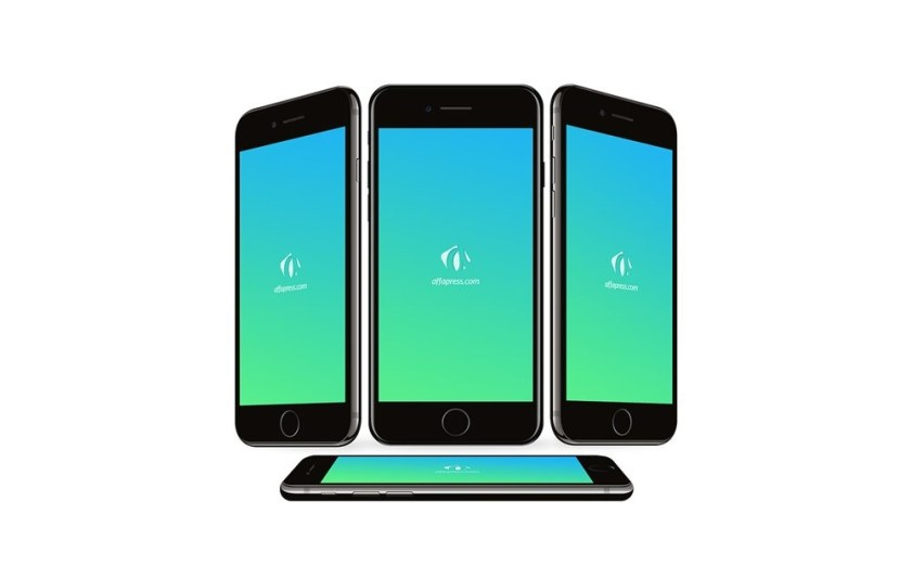 iphone 7 perspective screens mockup set mockupworld