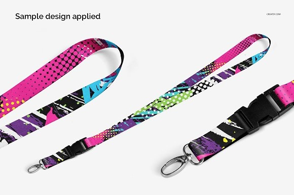 mock uppsd creativemarket lanyards sublimated mockup set