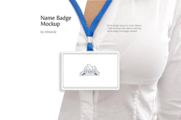 name badge mockup namebadge mock up lanyard mock up
