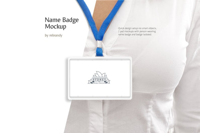name badge mockup namebadge mock up lanyard mock up