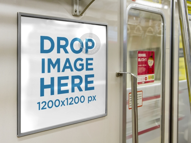 placeit horizontal banner mockup on a subway