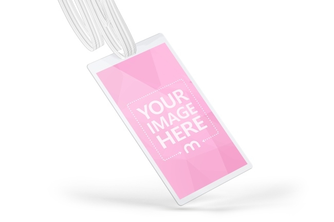 portrait lanyard name tag holder mockup generator mediamodifier