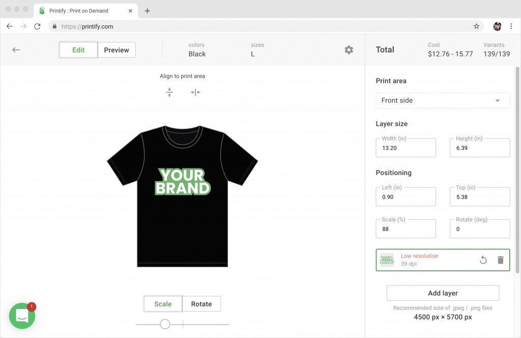 printify mockup generator sell custom products with your design