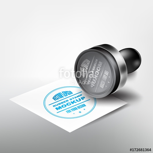 realistic beautiful rubber stamp mockup for your design rubber