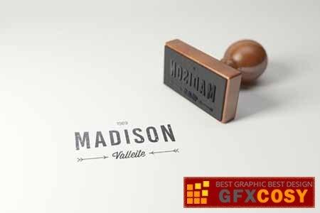 rubber stamp logo mockup rectangle version v2 free download