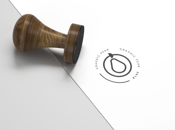 stamp mockup photoshop smart object