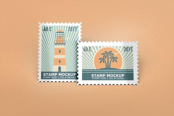stamps mockup wwwidesignstudio