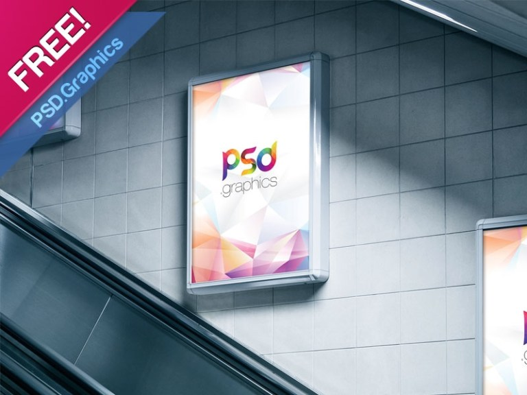 subway advertising billboard mockup free psd psd graphics on