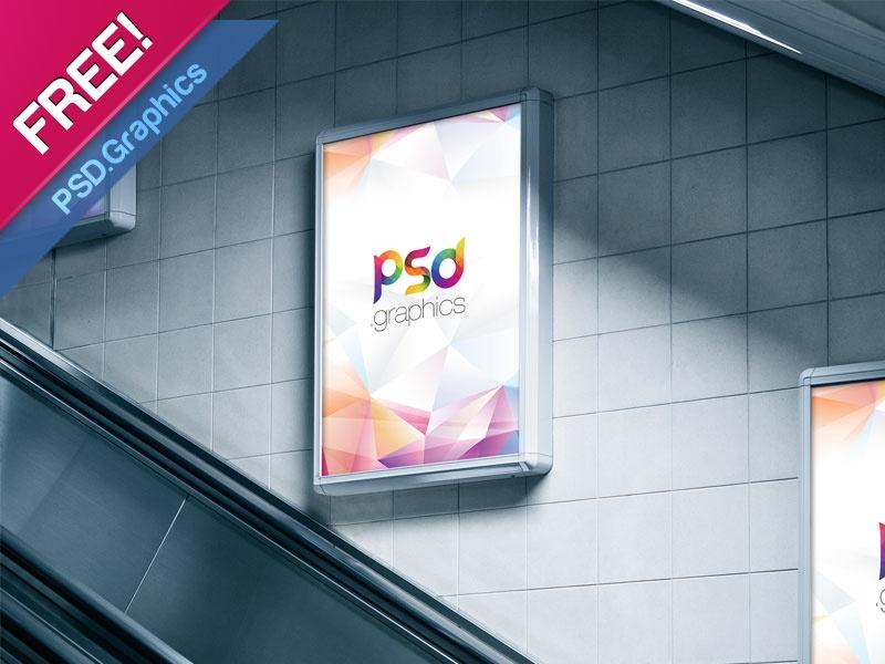 subway advertising billboard mockup free psd psd graphics on