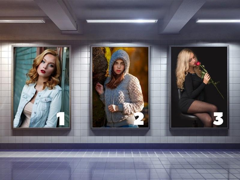 subway advertising billboard mockup mockup love