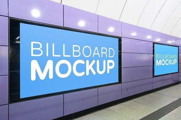 subway billboard mockup 2