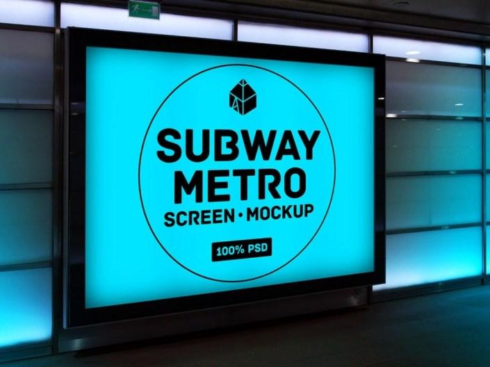 subway metro screen mockup mockupworld