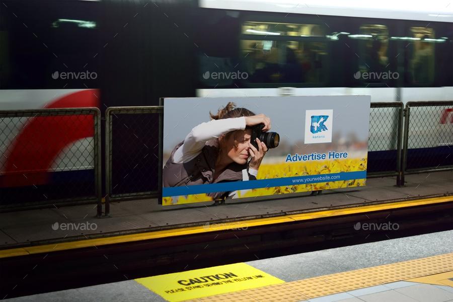 subway station mock up