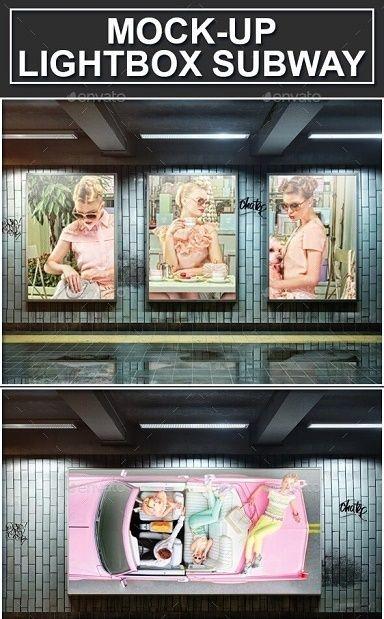 top subway advertising mockups free premium download templates