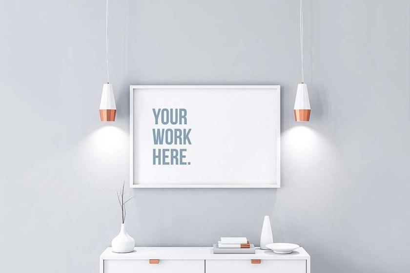 34 horizontal poster mockups for effective marketing colorlib
