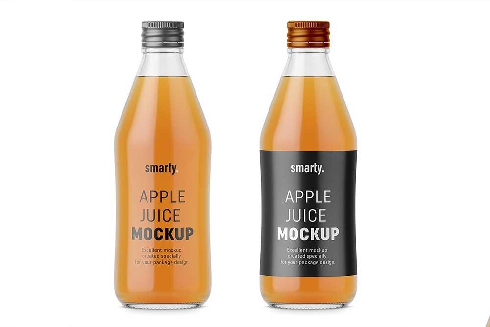 34 useful glass bottle mockups food and beverage packaging
