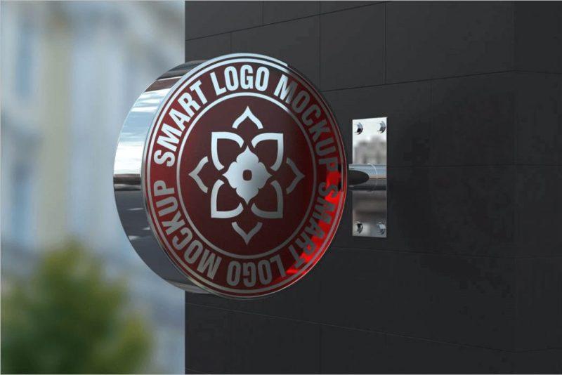 36 3d mockups free psd download logo wall