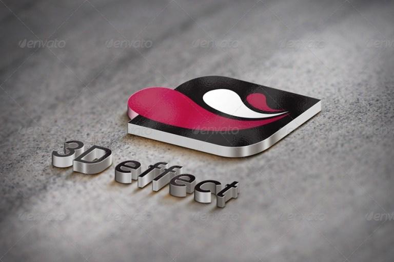 3d logo mockup 5 styles