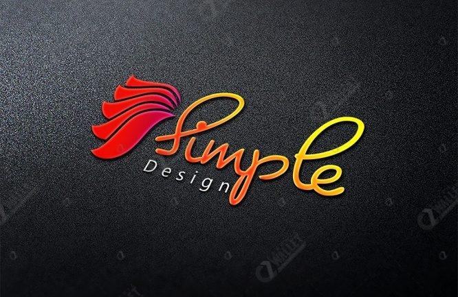 3d logo mockup simple design graphic wallet