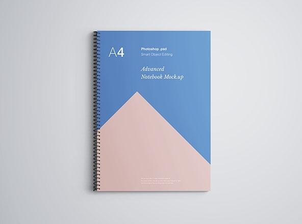 a4 notebook mockup
