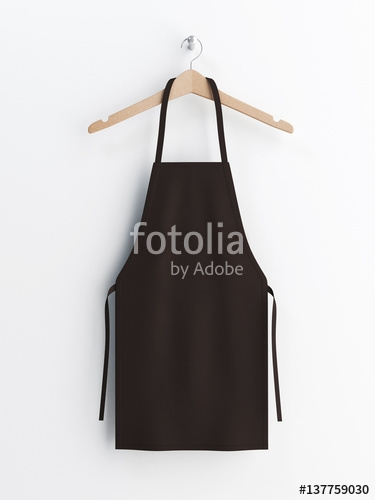 apron black apron apron mockup apron on clothes hanger 3d