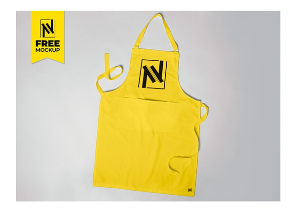 apron mockup free on student show
