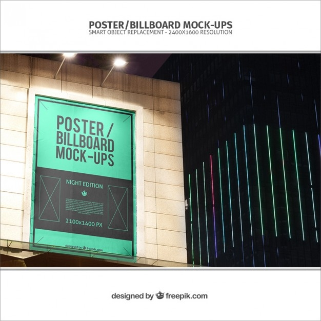 banner mockup on a building psd file free download