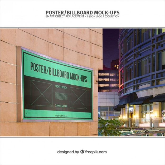 banner mockup template psd file free download