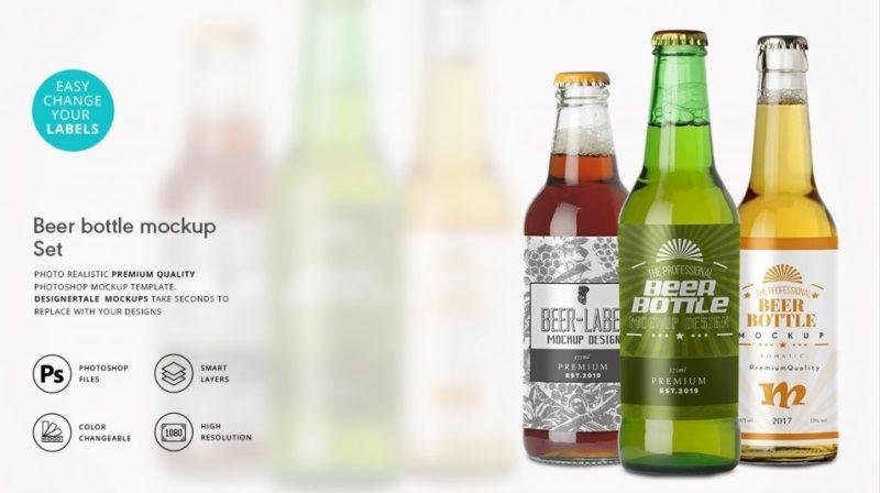 beer packaging label mockup designertale