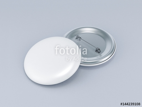blank button badge mockup 3d rendering stock photo and