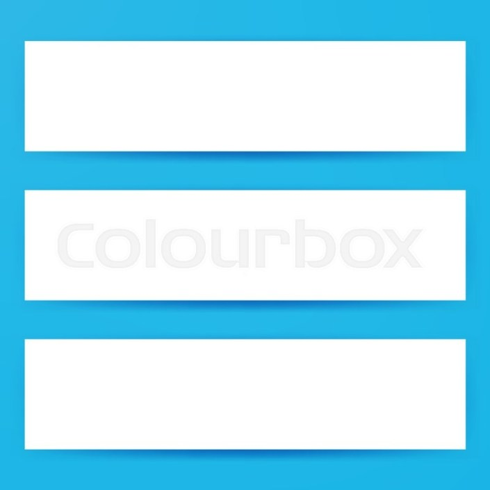 blank horizontal web banners mockup stock vector colourbox