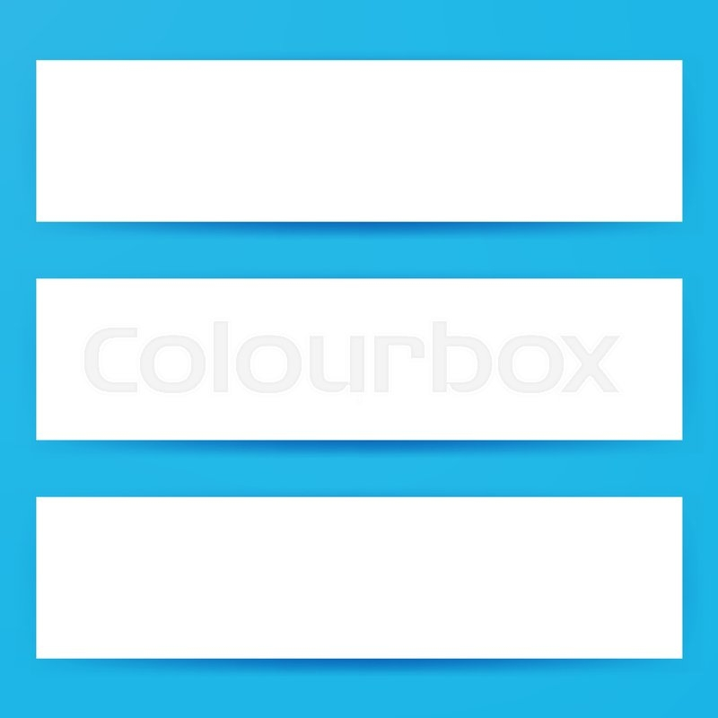 blank horizontal web banners mockup stock vector colourbox