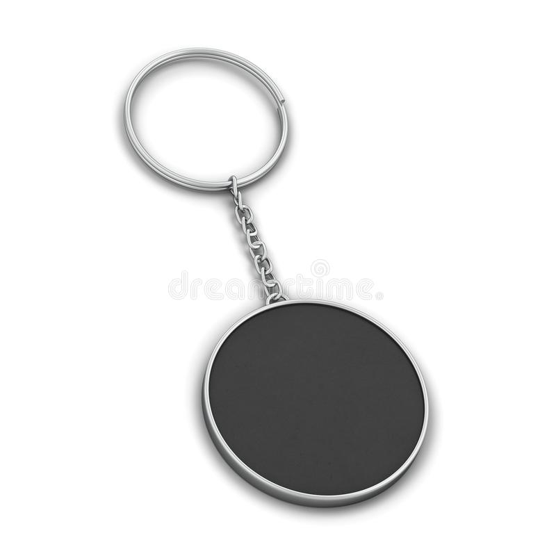 blank metallic keychain mockup stock illustration illustration of