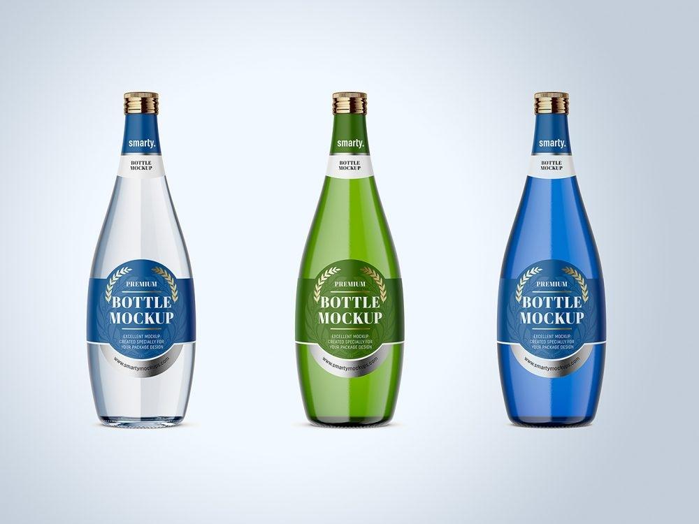 bottle mockup free collection for branding mockup