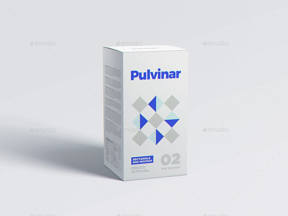 box packaging mockup rectangle