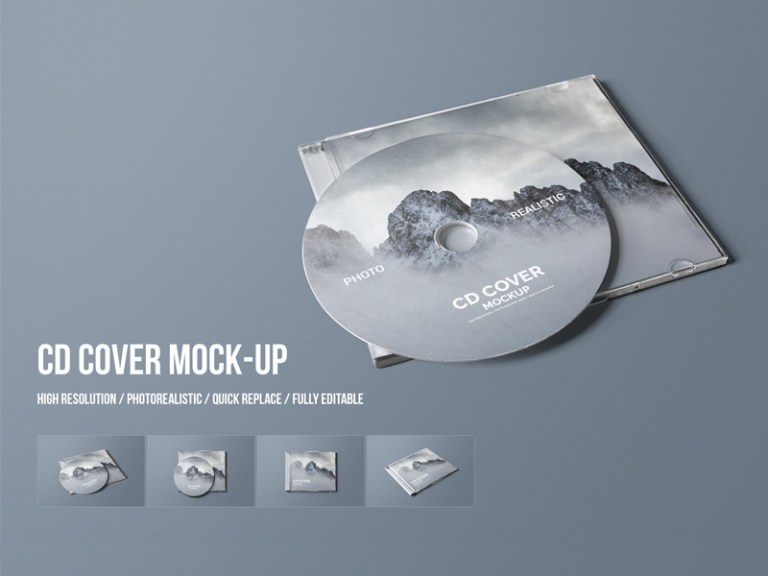 cd cover mock up toasin studio on dribbble