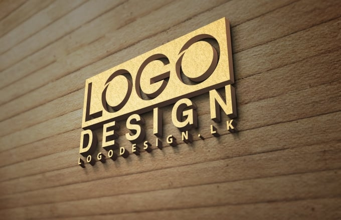 change your text or logo into 3d mockup wood design