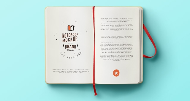 classic psd notebook mockup psd mock up templates pixeden