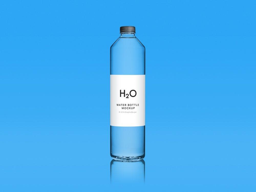 clean water bottle mockup mockupworld