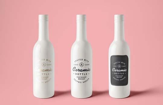 collection of free bottle psd mockups designbeep
